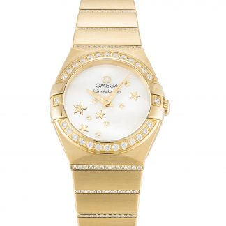 Omega Constellation replica orologi donna oro giallo con diamanti 123.55.24.60.05.002